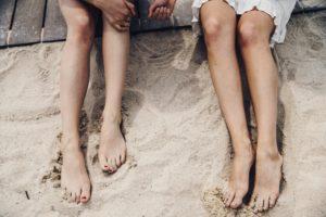 jambes épilées